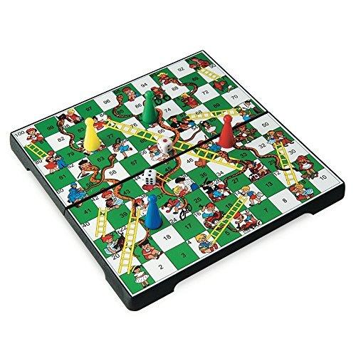 Juego JU01013 -  Travel Game, Snakes & Ladders, Viaje y de Bolsillo Infantil, magnético