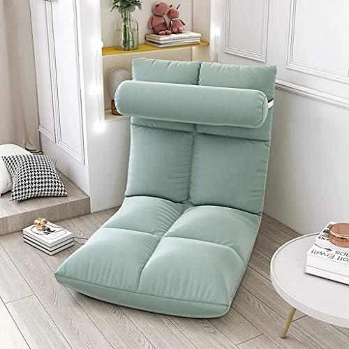 Sedie Pieghevoli Sedia da Pavimento Pieghevole Sedile da Pavimento Regolabile in 5 Posizioni Divano Portatile Lazy Lounge Per Camera da Letto per Bambini per Adulti Pieghevoli Ufficio ( Color : Gray )