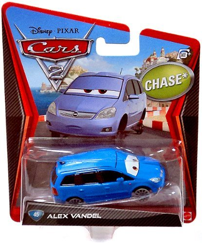 Disney Pixar CARS 2 Movie 1:55 Die Cast Car Alex Vandel # 45 *Chase*