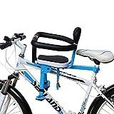 Seggiolino Anteriore per Bicicletta Bambino,Doppio Fisso Anteriore E Posteriore,Installazione Facile,Pedale Pieghevole,Design A Recinzione Completa,Spugna Spessa