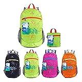 EGOGO Wasserdicht Faltbare Stopfbare Wandern Reisen Rucksack School Tasche Rucksack für Mädchen Jungen College Studenten S2016 (Grün)