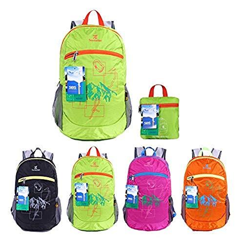 EGOGO impermeabile pieghevole Packable Escursionismo viaggio zaino scuola borsa zaino per le ragazze, ragazzi, College gli studenti S2016 (Verde)