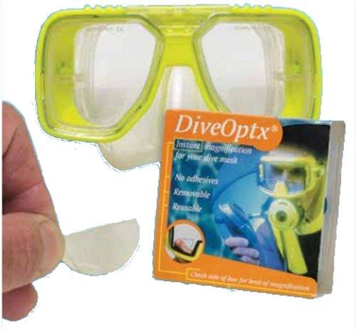 Dive mask magnifying lenses
