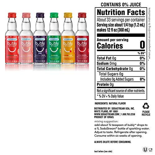 sodastream bubly Drops 6 Flavor, Original Variety Pack, 8 Fl Oz