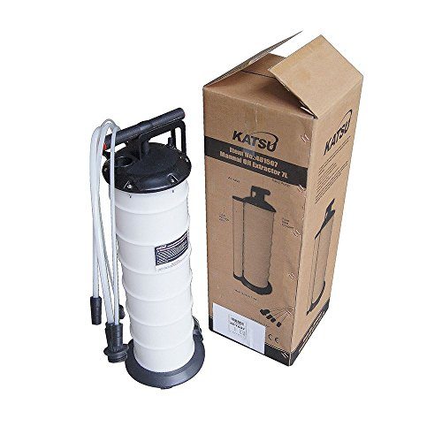 Katsu, pompa di aspirazione manuale per liquidi, acqua, fluidi, olio, olio per macchina e motori, capacità 7 lit