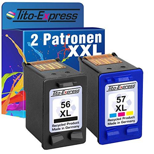 Tito-Express PlatinumSerie Set 2X Druckerpatrone für HP 56 XL HP 57 XL PSC 2210 1217 1219 1300 1310 1312 1315 1315S 1315V