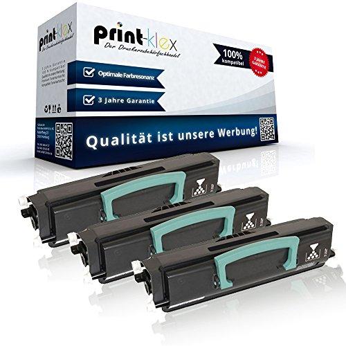 3x Kompatible Tonerkartuschen für Lexmark X340 X340N X342 X342N 0X340A11G X340A21G Black Schwarz - Office Pro Serie