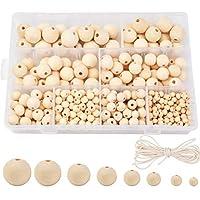 【 Artisanat 】 Les perles en bois brut sont adaptées pour la peinture, la teinture, le bricolage de vos propres boules en bois personnalisées. Vous pouvez également utiliser ces perles en bois pour la décoration. Matériau sûr : perles en bois naturel ...