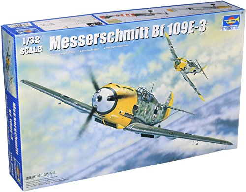 Avião Messerschmitt Bf-109 E3 Kit Trumpeter 1/32 Plastimodelismo