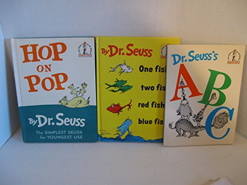Set of Three Dr. Seuss Books Including: One Fish, Two Fish; ABC's; Hop on Pop