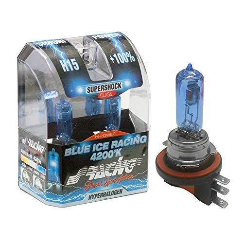 Simoni Racing BIR/H15 Kit 2 Lámparas Blue Ice Racing, enchufe H15