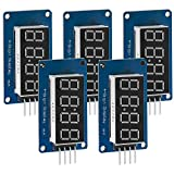 AZDelivery 5 x Modulo Pantalla Digital LED Display 8 bit TM1637 I2C con Reloj Display para Arduino y Raspberry Pi con E-Book incluido!