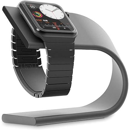Curvy Continuum Apple Watch 充電スタンド Series 6/SE/5/4/3/2/1 対応 アップルウォッチ スマートウォッチ 充電ホルダー ケーブル傷防止 (グレー)