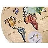 Geldgeschenk Weltkarte als Bilderrahmen oder Puzzle aus HOLZ, Hochzeitsgeschenk, Geburtstagsgeschenk, Geldverpackung, Hochzeitsidee,...