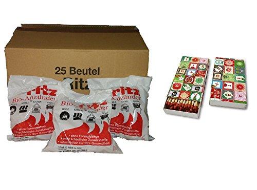 325 Ritz Bio Kamin- und Grill Anzünder + Schachtel mit 45 Streichhölzern