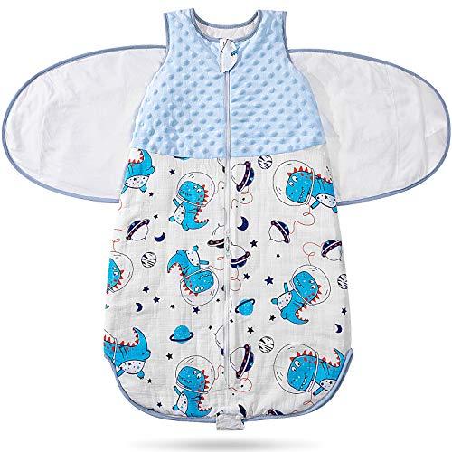 Swaddle Blanket for Baby Boy Girls 100% Cotton Breathable Sleepsack Unisex Sleep Sack Infant Transition Sleep Bag Wearable Blanket 03 Month Newborn