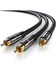 Primewire - 1,5m HQ Y Subwoofer Cable - 1x Conector RCA Macho a 2X Conectores RCA Macho - Conector metálico de precisión - Serie