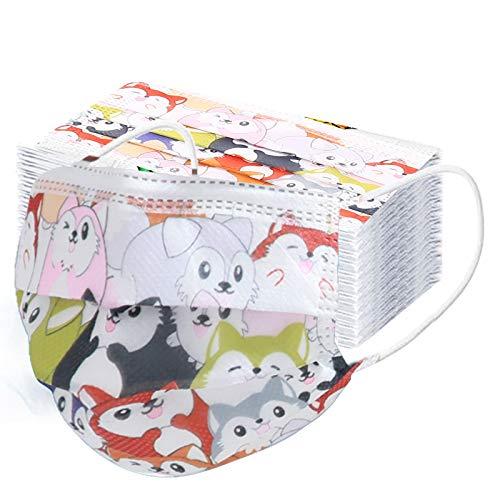 10 – 100 piezas estampado de dibujos animados para niños, transpirable, bandana, impresión de diademas para gato, arcoíris, oso mudo, ballena, azul, pingüino, conejo impreso.