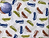 Charles Street 3 Piece TWIN Sheet Set Red Green Blue Antique Cars