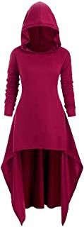 iLOOSKR Fashion Women's Hooded Skirt Pullover Long Sleeve High Bandage Dress Cloak Dress