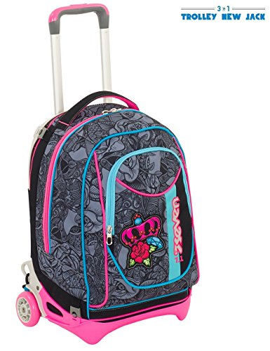Seven- Trolley New Jack-Roses Girl, Colore Nero, 201001821-899