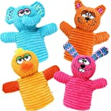 BETTERLINE Fun Colorful Animal Hand Puppets for Kids (4 Puppets) Bunny Rabbit, Elephant, Duck and Cat - Great Gift for Girls and Boys, Toddlers and Children Ages 2, 3, 4, 5, and 6 Years Old