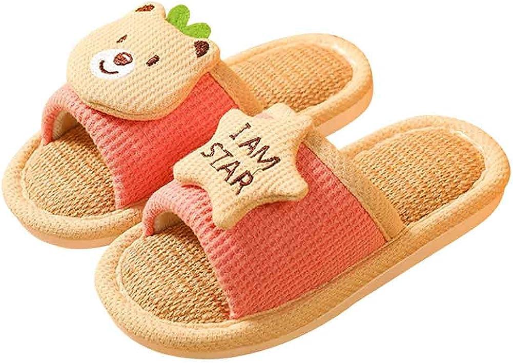 LSPAR Unisex Kids Slippers Open Toe Cute OFFicial store Regular discount Cart House Indoor Shoes