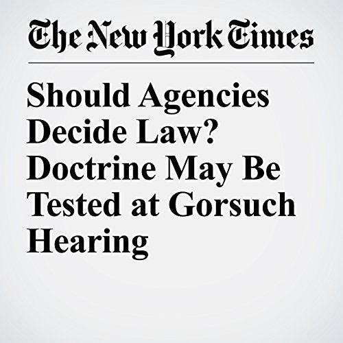 Should Agencies Decide Law? Doctrine May Be Tested at Gorsuch Hearing copertina
