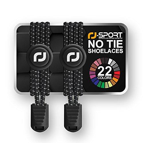 RJ-Sport Elastische Schnürsenkel mit Schnellverschluss – Schnellschnürsystem für einzigartigen Komfort, perfekten Sitz und starken Halt - 1 Paar