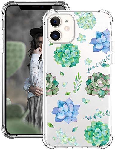 Riyeri Funda iPhone 12 MAX, Transparente Suave Silicona Protector TPU Anti-Arañazos Carcasa Ultra-Delgado Anti-Choque Bumper Case Caso para Teléfono Apple iPhone 12 MAX - Claro (5)