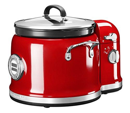 KitchenAid - Robot de cocina con mezclador, color rojo imperial