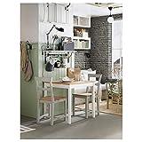 BestOnlineDeals01 Mesa LERHAMN de color blanco, 74 x 74 cm, resistente y fácil de cuidar. Hasta 4 asientos. Mesas de comedor. Mesas y escritorios. Muebles. Respetuoso con el medio ambiente.