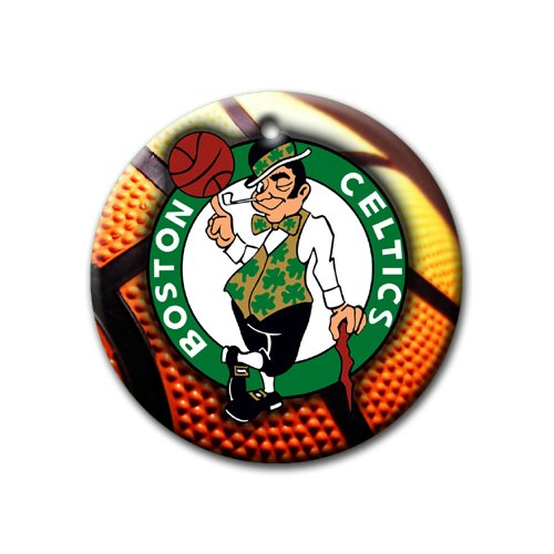 MYDply Celtics Basketball Ornament Round Porcelain Christmas Great Gift Idea Boston