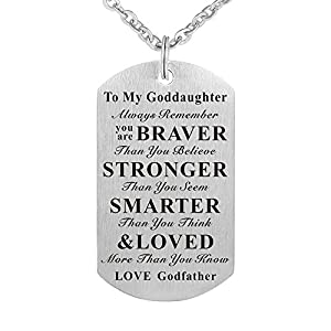 Kisseason Godson Goddaughter Gift Jewelry Keychain Pendant Necklace from Godfather Godmother Godparents