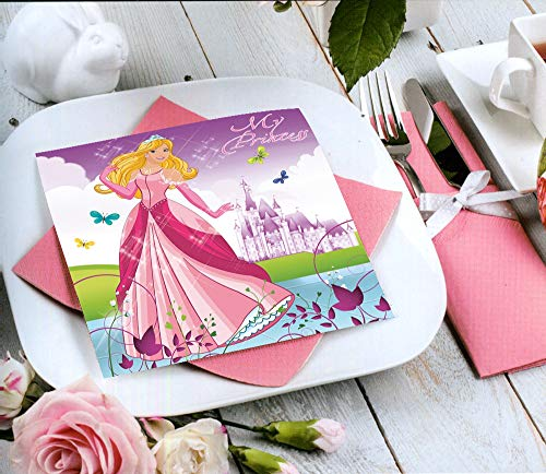 Maky 60 Servietten Beautiful Princess Napkins 33x33cm für Feste und Feiern