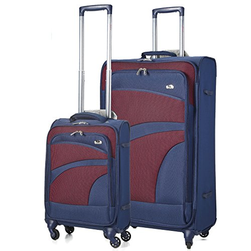 Aerolite Super Lightweight 4 Wheel Spinner Suitcase Travel Trolley 2 Piece Luggage Set, 21' Cabin + 29' Large