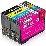 SavFinto 405XL Patronen Ersatz für Epson 405 Druckerpatronen Kompatible für Epson Workforce Pro WF-7830DTWF WF-4820DWF WF-3820DWF WF-7840DTWF WF-4830DTWF WF-4820DWF WF-3825DWF WF-4825DWF WF-7835DTWF