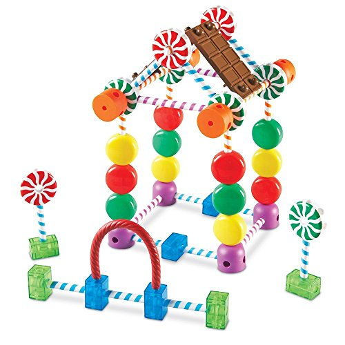 Learning Resources Candy Construction Building Set, Fine Motor Building Toy, 92 Pieces, Ages 4+