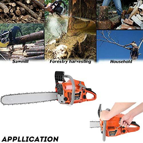 58CC 2-Stroke Bar Gasoline Powered Chainsaw, 20-Inch Chainsaw, Cordless Handheld Gasoline Power Chain Saws for Cutting Trees, Wood, Garden and Farm (Orange)