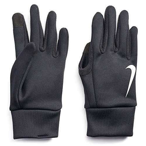 Nike Mens Thermal Therma Fit Fabric Touch Screen Capability Gloves (X-Large, Black)