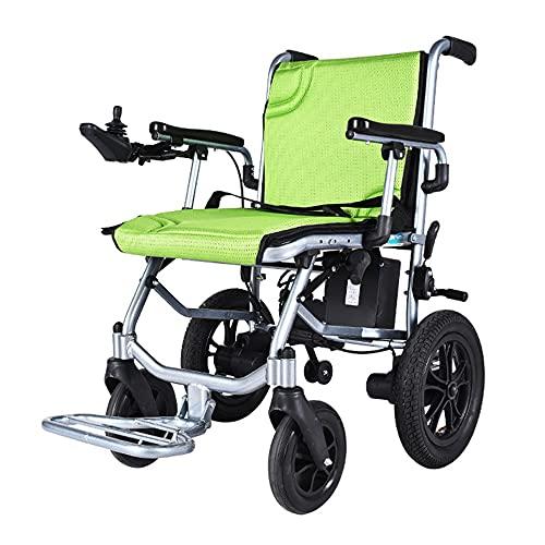Silla de ruedas eléctrica plegable scooter portátil para personas mayores con carrito silla de ruedas doméstica con batería de litio recargable adecuada para personas mayores / discapacitadas