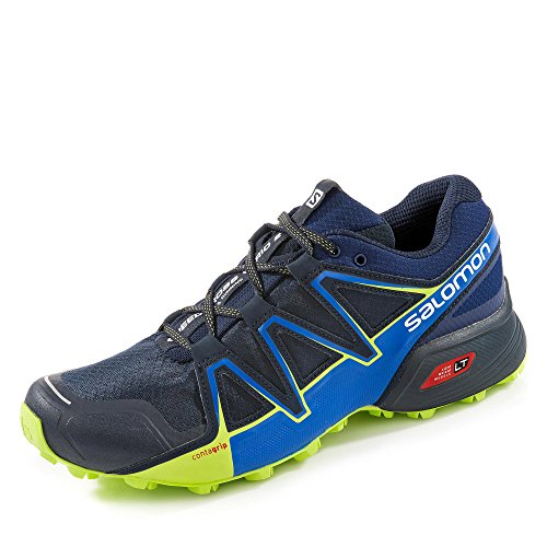 Salomon Herren Speedcross Vario 2, Trailrunning-Schuhe, blau (navy blazer/nautical blue/lime punch) Größe: 46