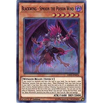 Simoon the Poison Wind LED3 EN024 Super Rare 1st Edition Yugioh Blackwing