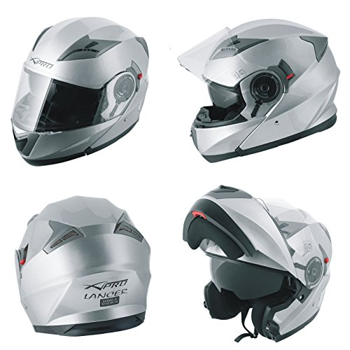 professionnel comparateur Modular Convertible Helmet Motorcycle Visor Sun Visor Silver L. choix