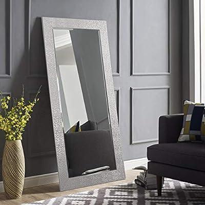 Naomi Home Mosaic Style Full Length Floor Mirror Silver