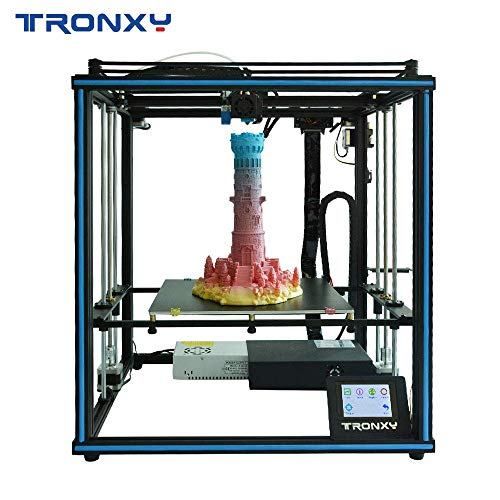 TRONXY X5SA 3D Printer Rapid Assembly DIY Kit Auto Leveling Filament Sensor Resume Print Cube Full Metal Square with 3.5 inch Touch Screen Large printing size 330 * 330 * 400