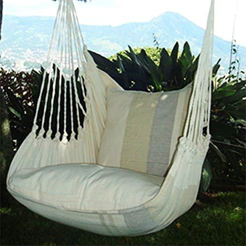 Holzenplotz Hängesessel Hängematte Hängestuhl aus Baumwolle mit 2 Kissen 3 Größen lieferb. Größe XXL 181