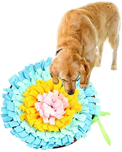 XMY Bunte Pet Snuffle Matte, Handwoven Dog Sniffing Pad Hund Spielen Mats weiche Haustier-Nasen-Arbeit Geruch Trainings Füttern Futter suchen Fähigkeit Decke Puzzle Spielzeug