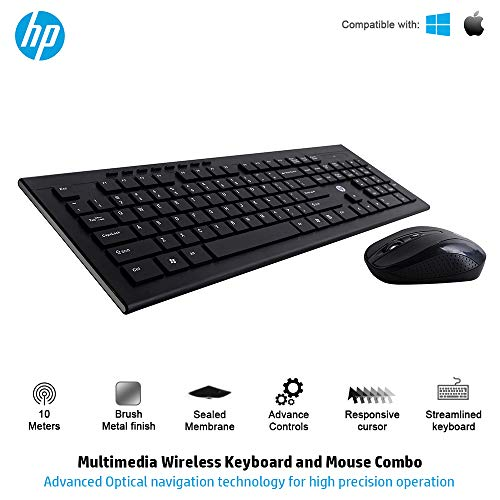 HP Multimedia Slim Wireless Keyboard & Mouse Combo (4SC12PA)