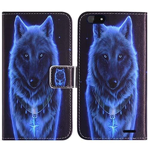 TienJueShi Wolf Flip Book Stand Brieftasche Leder Tasche Schütz Hülle Handy Handy Hülle Für Archos Core 57S 5.72 inch Abdeckung Fall Wallet Cover Etüi